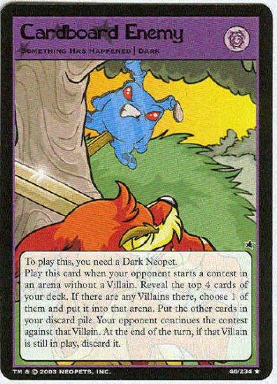 Neopets CCG Base Set #46 Cardboard Enemy Rare Card