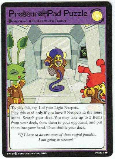 Neopets CCG Base Set #74 Pressure-Pad Puzzle Rare Card