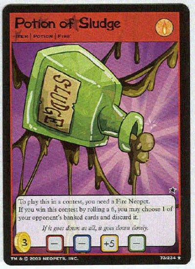Neopets CCG Base Set #73 Potion of Sludge Rare Game Card