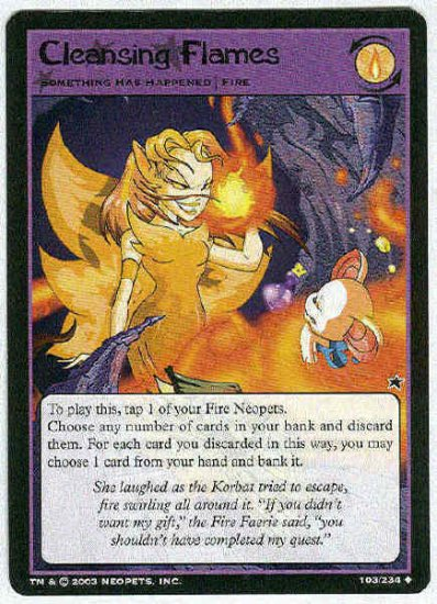 Neopets CCG Base Set #103 Cleansing Flames Uncommon