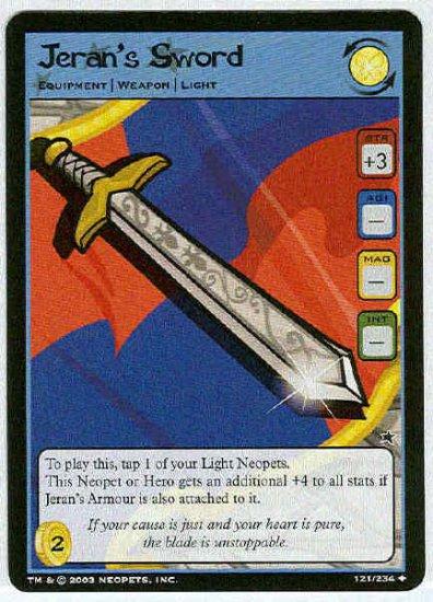 Neopets CCG Base Set #121 Jeran's Sword Uncommon Card
