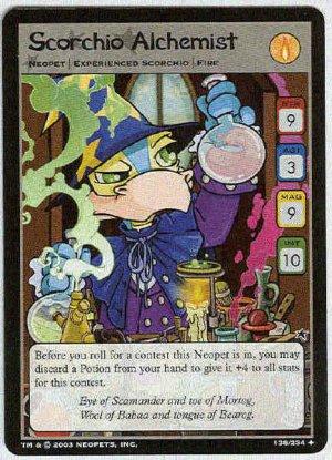 Neopets CCG Base Set #138 Scorchio Alchemist Uncommon