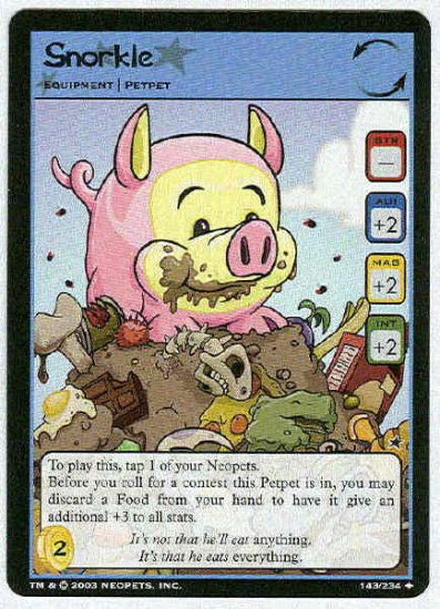 Neopets CCG Base Set #143 Snorkle Uncommon Game Card