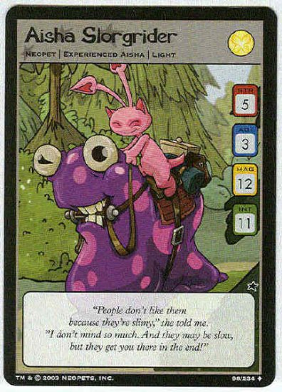 Neopets #98 Aisha Slorgrider Uncommon Card Unplayed
