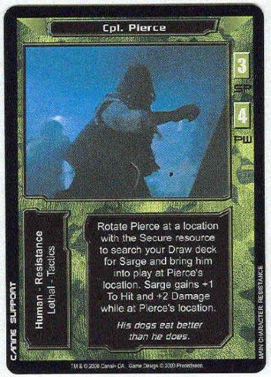 Terminator CCG Cpl. Pierce Uncommon Game Card Unplayed