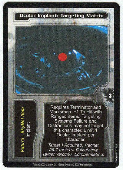 Terminator CCG Ocular Implant Targeting Matrix Uncommon Card