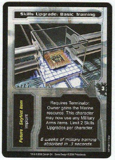 Terminator CCG Skills Upgrade Basic Training Uncommon Card Unplayed