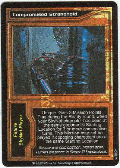 Terminator CCG Compromised Stronghold Uncommon Card
