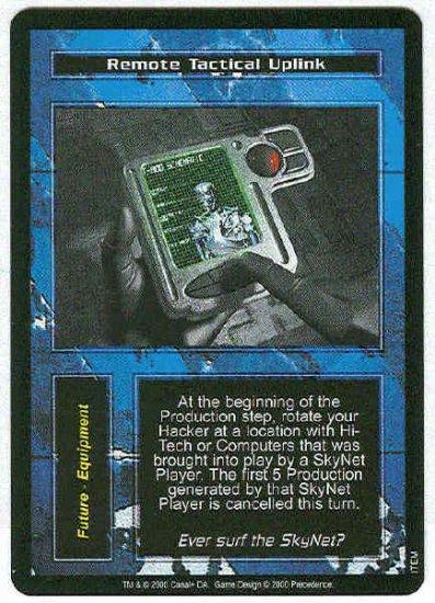 Terminator CCG Remote Tactical Uplink Uncommon Card