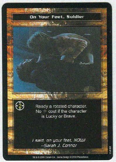 Terminator CCG On Your Feet Soldier Uncommon Game Card