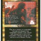 Terminator CCG Priorities Rescinded Uncommon Game Card Unplayed
