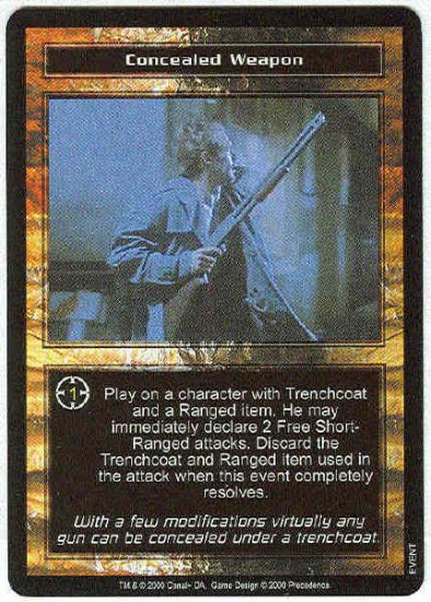 Terminator CCG Concealed Weapon Uncommon Game Card