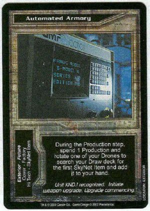 Terminator CCG Automated Armory Uncommon Game Card