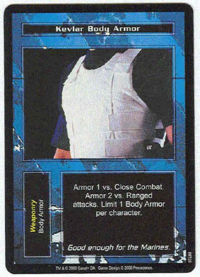 Terminator CCG Kevlar Body Armor Uncommon Game Card