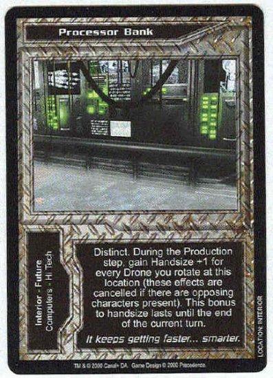 Terminator CCG Processor Bank Uncommon Game Card