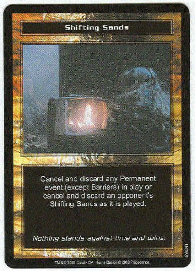 Terminator CCG Shifting Sands Uncommon Game Card