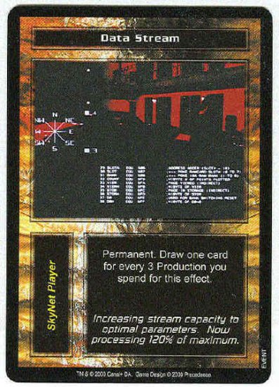 Terminator CCG Data Stream Uncommon Game Card