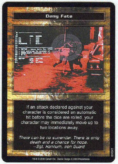 Terminator CCG Deny Fate Uncommon Game Card