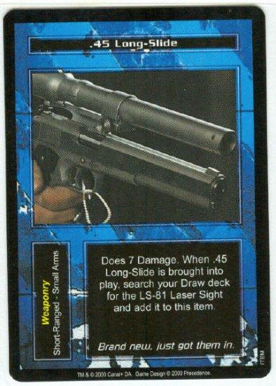 Terminator CCG .45 Long-Slide Precedence Game Card