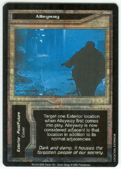 Terminator CCG Alleyway Precedence Game Card