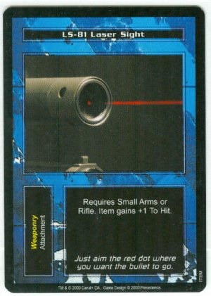 Terminator CCG LS-81 Laser Sight Precedence Game Card