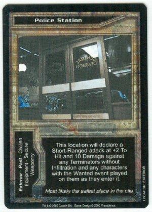 Terminator CCG Police Station Precedence Game Card