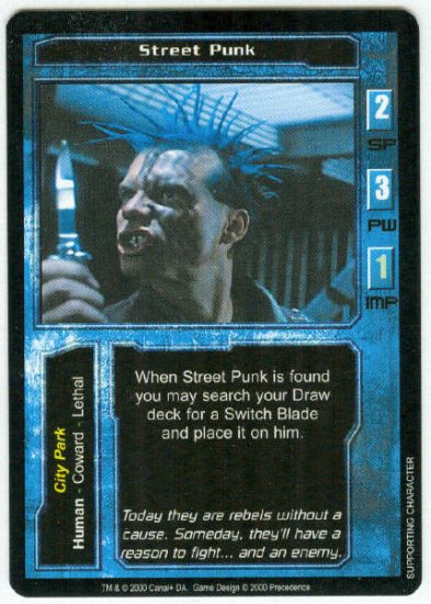 Terminator CCG Street Punk Game Card Bill Paxton