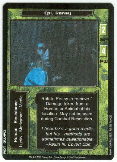 Terminator CCG Cpl. Rensy Precedence Game Card
