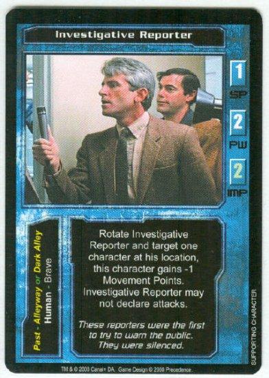 Terminator CCG Investigative Reporter Game Card Unplayed