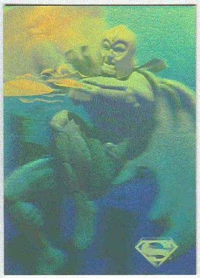 Superman Holo Series #21 Gold Parallel Card Alpha Centurion