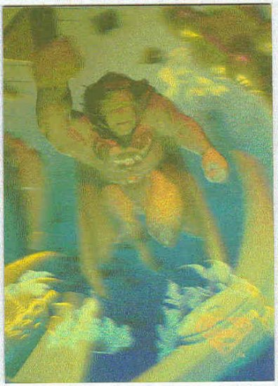 Superman Holo Series #11 Gold Parallel Card Swift Justice