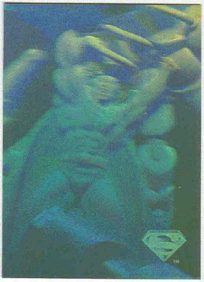 Superman Holo Series #10 Gold Parallel Card Power Move