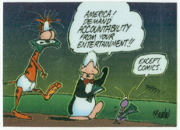 Bloom County Outland #46 Sticker Parallel Trading Card