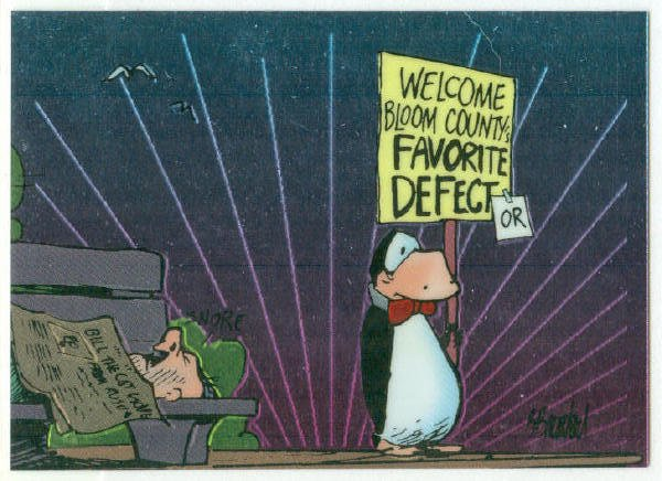 Bloom County Outland #49 Sticker Parallel Trading Card