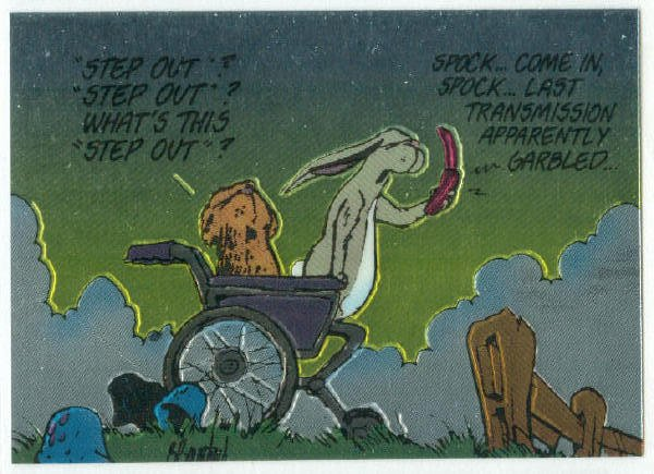 Bloom County Outland #60 Sticker Parallel Trading Card