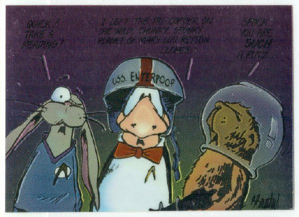 Bloom County Outland #66 Sticker Parallel Trading Card