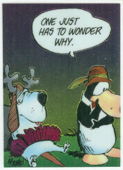 Bloom County Outland #79 Sticker Parallel Trading Card