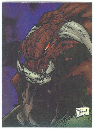 Creed 1996 Sticker #38 Chromium Parallel Trading Card
