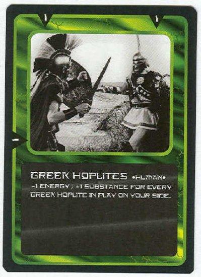 Doctor Who CCG Greek Hoplites Black Border Game Card