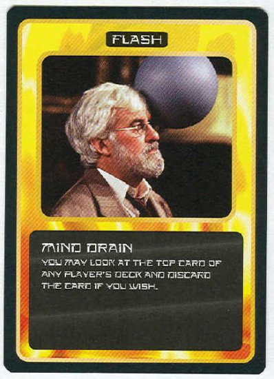 Doctor Who CCG Mind Drain Black Border Game Card