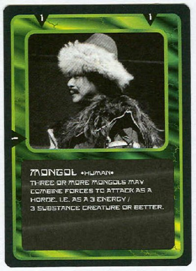 Doctor Who CCG Mongol Black Border Game Trading Card
