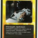 Doctor Who CCG Ransom Demand Black Border Game Card