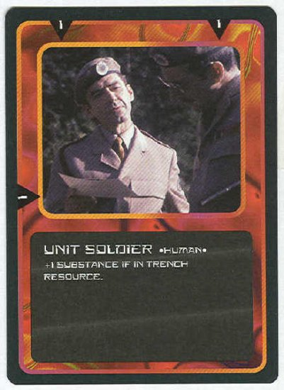 Doctor Who CCG Unit Soldier Black Border Game Card