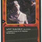 Doctor Who CCG Unit Soldier Black Border Game Trading Card