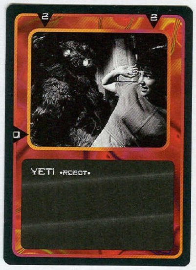 Doctor Who CCG Yeti Black Border Game Trading Card
