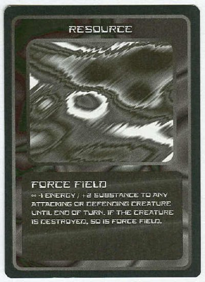 Doctor Who CCG Force Field Black Border Game Card