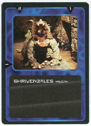 Doctor Who CCG Shrivenzales Black Border Game Card