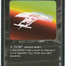 Doctor Who CCG V-Ship Black Border Game Trading Card