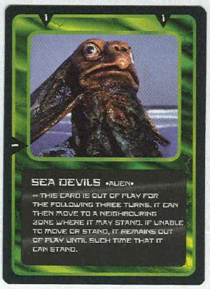Doctor Who CCG Sea Devils Black Border Game Trading Card
