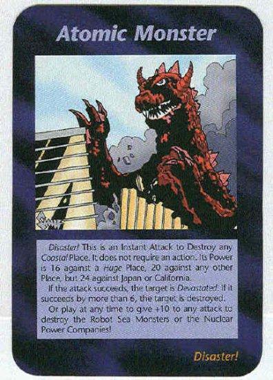 Illuminati Atomic Monster New World Order Game Card